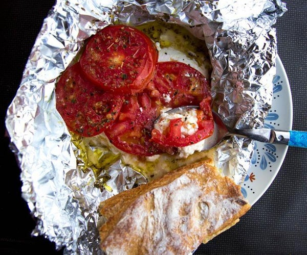 Easy Feta Cheese and Tomatoes on the Grill