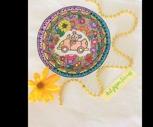How to Draw a Teddy Bear Mandala