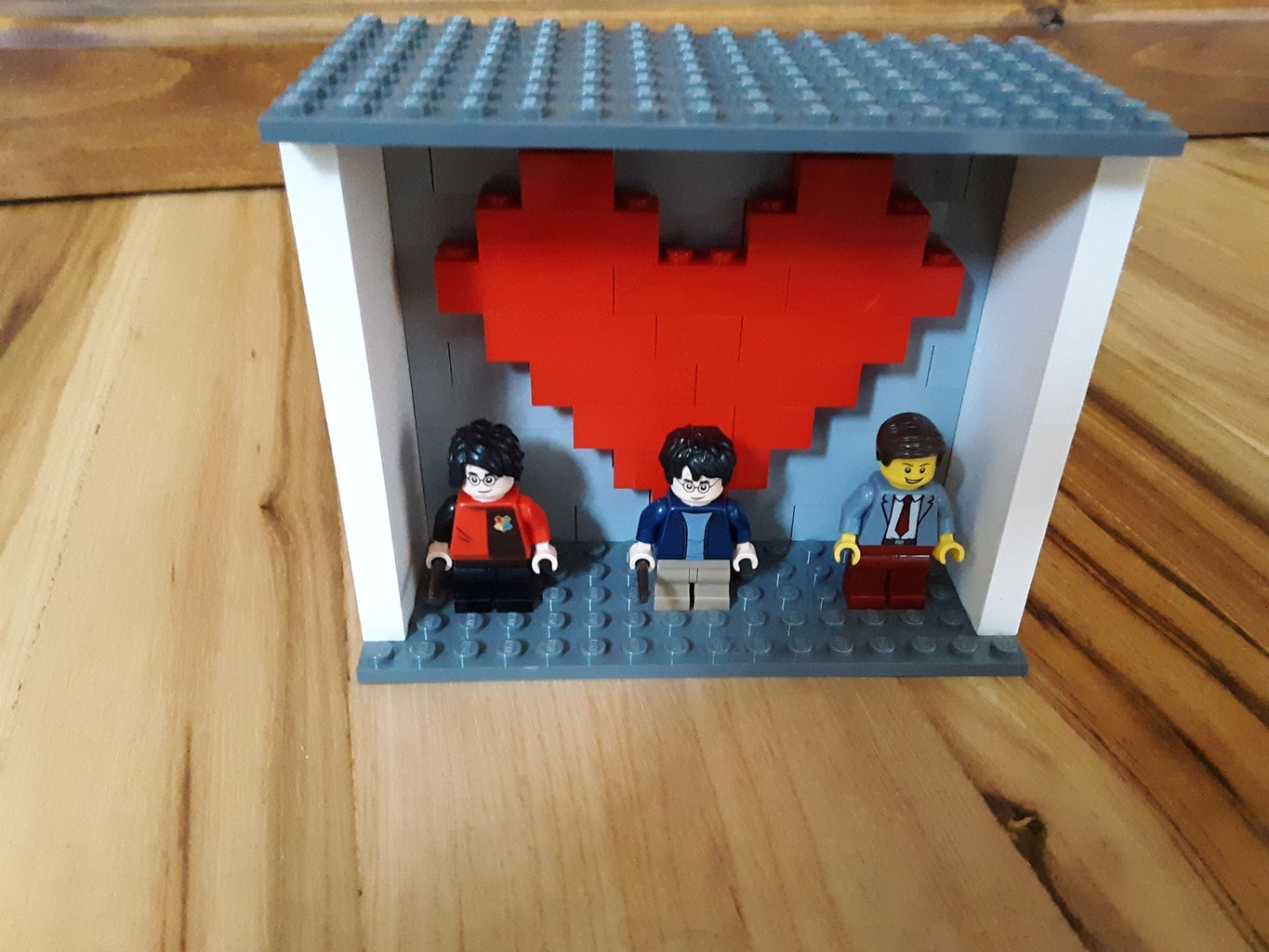 A Heart Stand for All Your Favorite Lego Figurines