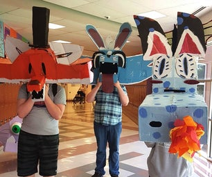 Wayne White Inspired Cardboard Masks