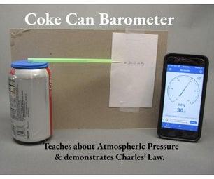 Coke Can Barometer