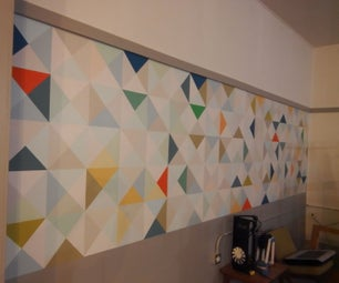 Triangle Mural Wall Design