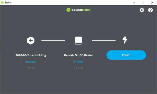 Flash OS to SD Card