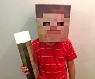 Minecraft Mask - Easy, Fast and Cheap