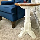 $ 50 mesa auxiliar de pedestal de bricolaje