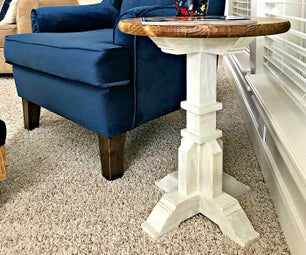 $50 DIY Pedestal Side Table
