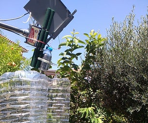 Vertical Wind Turbine From Big PET Bottle