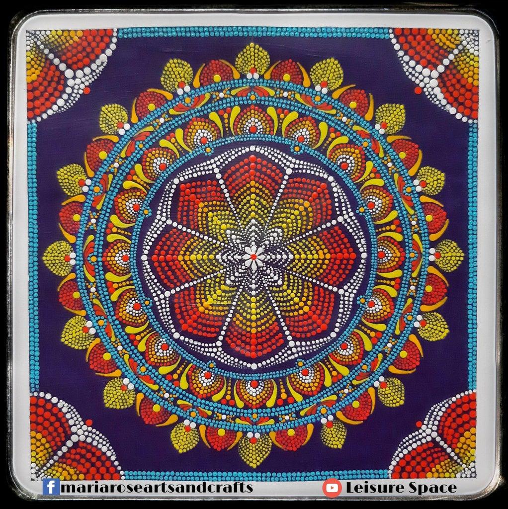 3D Illusion Dot Mandala Painting Without Using Stencils