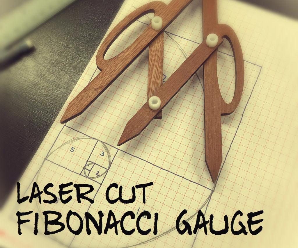 Laser Cut Fibonacci Gauge
