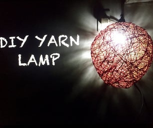 DIY YARN LAMP