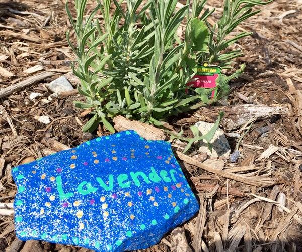 Garden Label on a Rock (Super Easy!)