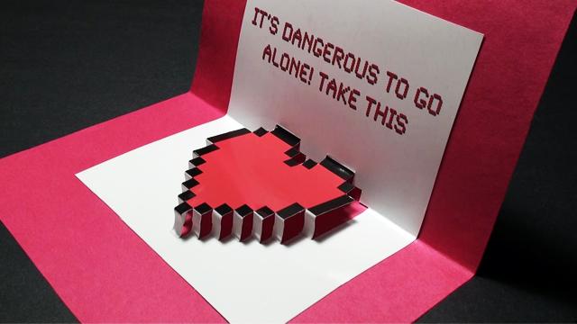 Zelda Pop Up Valentine's Day Heart Card!