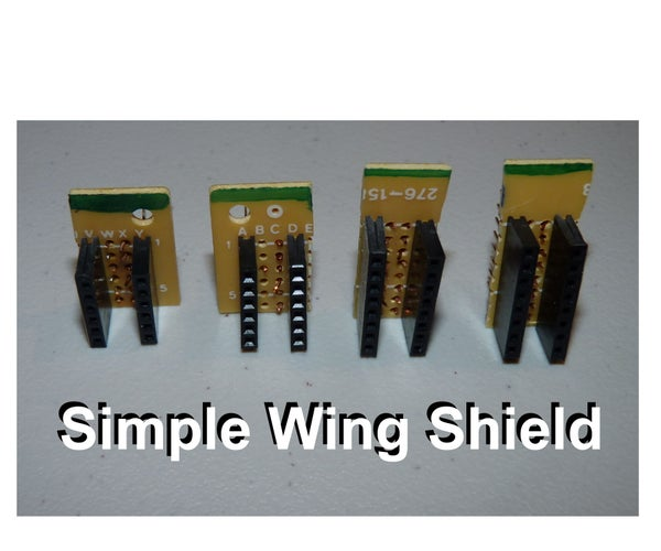 Simple Arduino Wing Shield