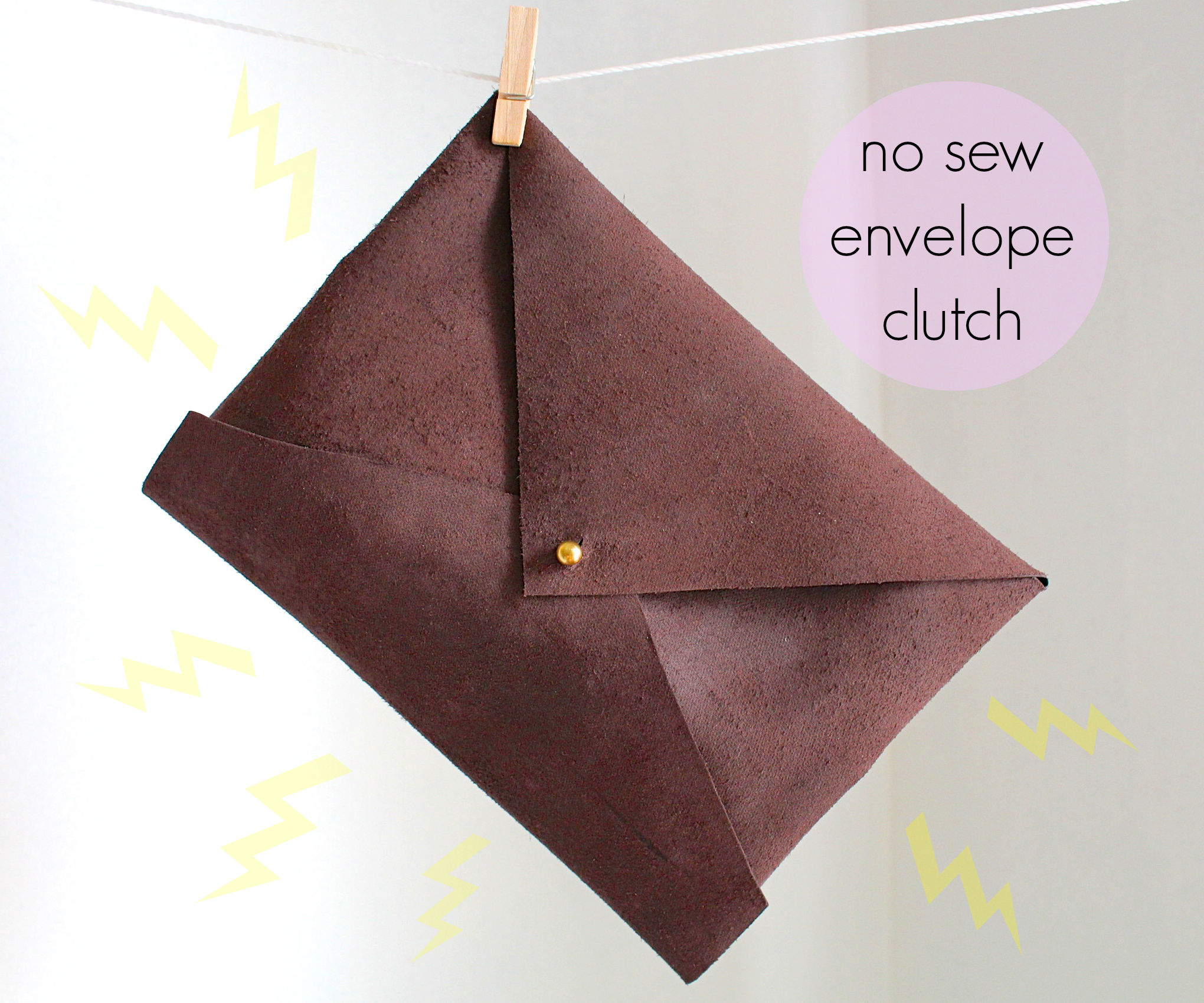 envelope clutch tutorial + pattern