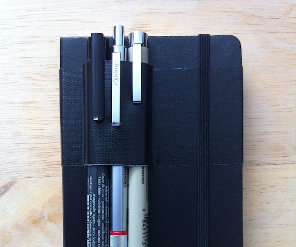 Moleskine duct tape based pen case/holder