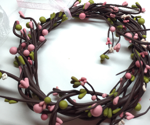 DIY Spring/Easter Wreath- Polymer Clay (Fimo) Tutorial