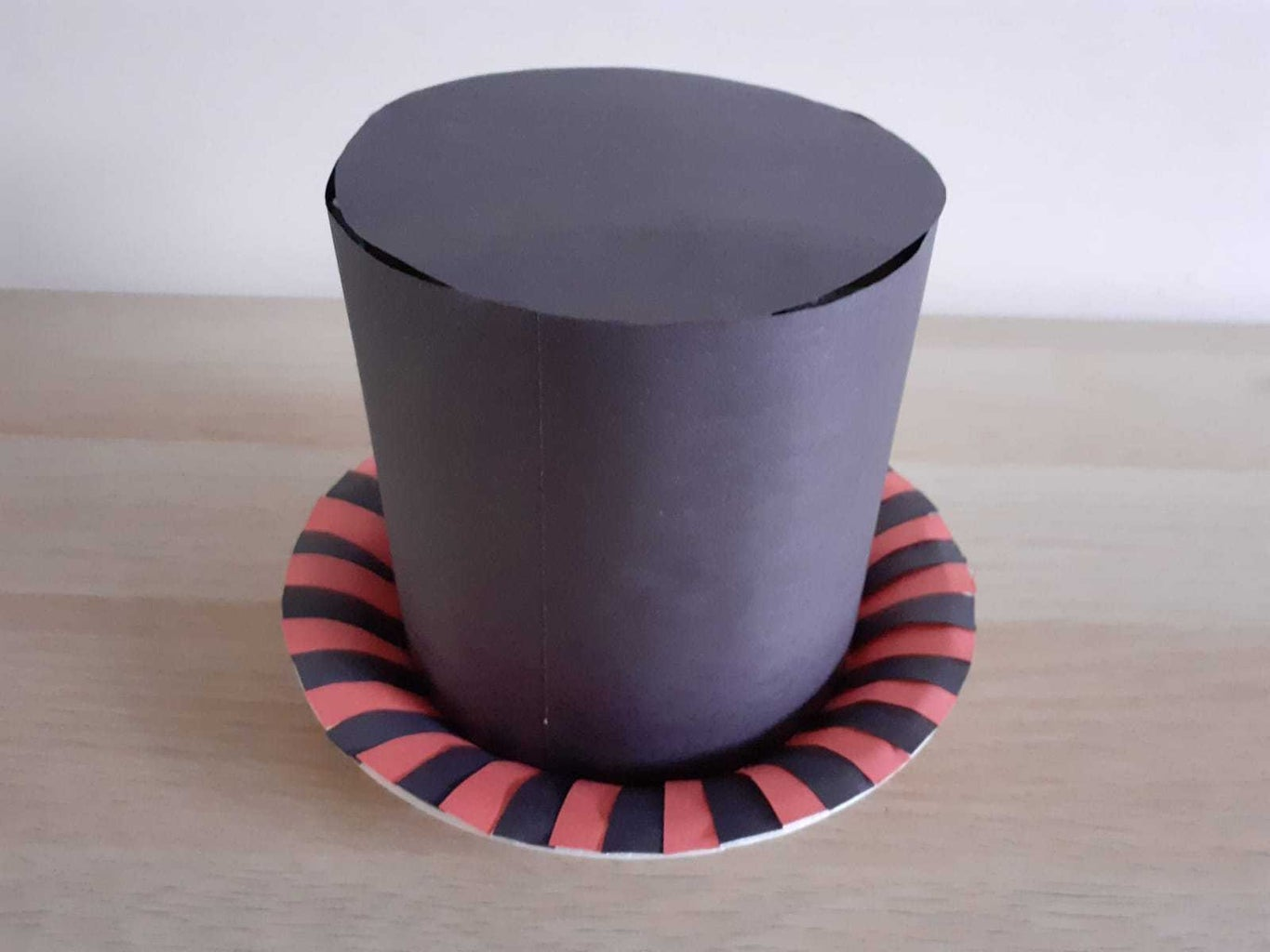 Attaching Construction Paper Strips: