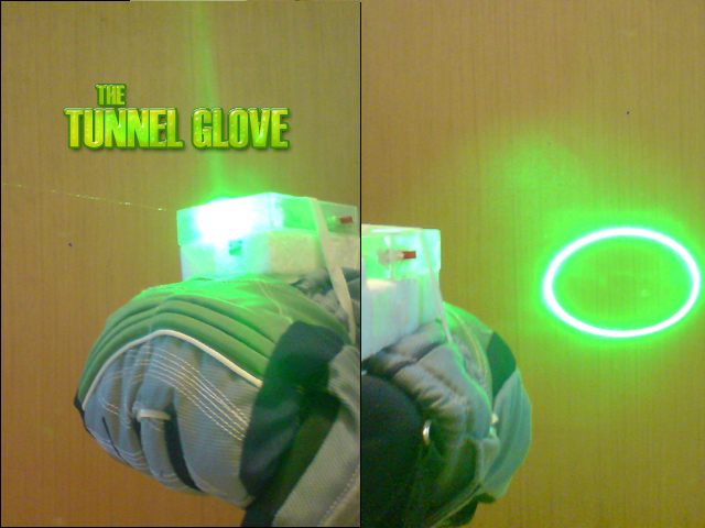 The Laser Tunnel Glove!