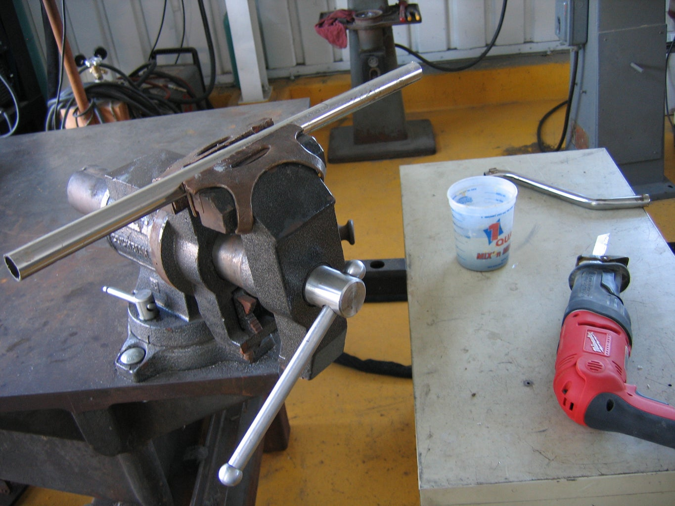 Cut Supports to Be Welded