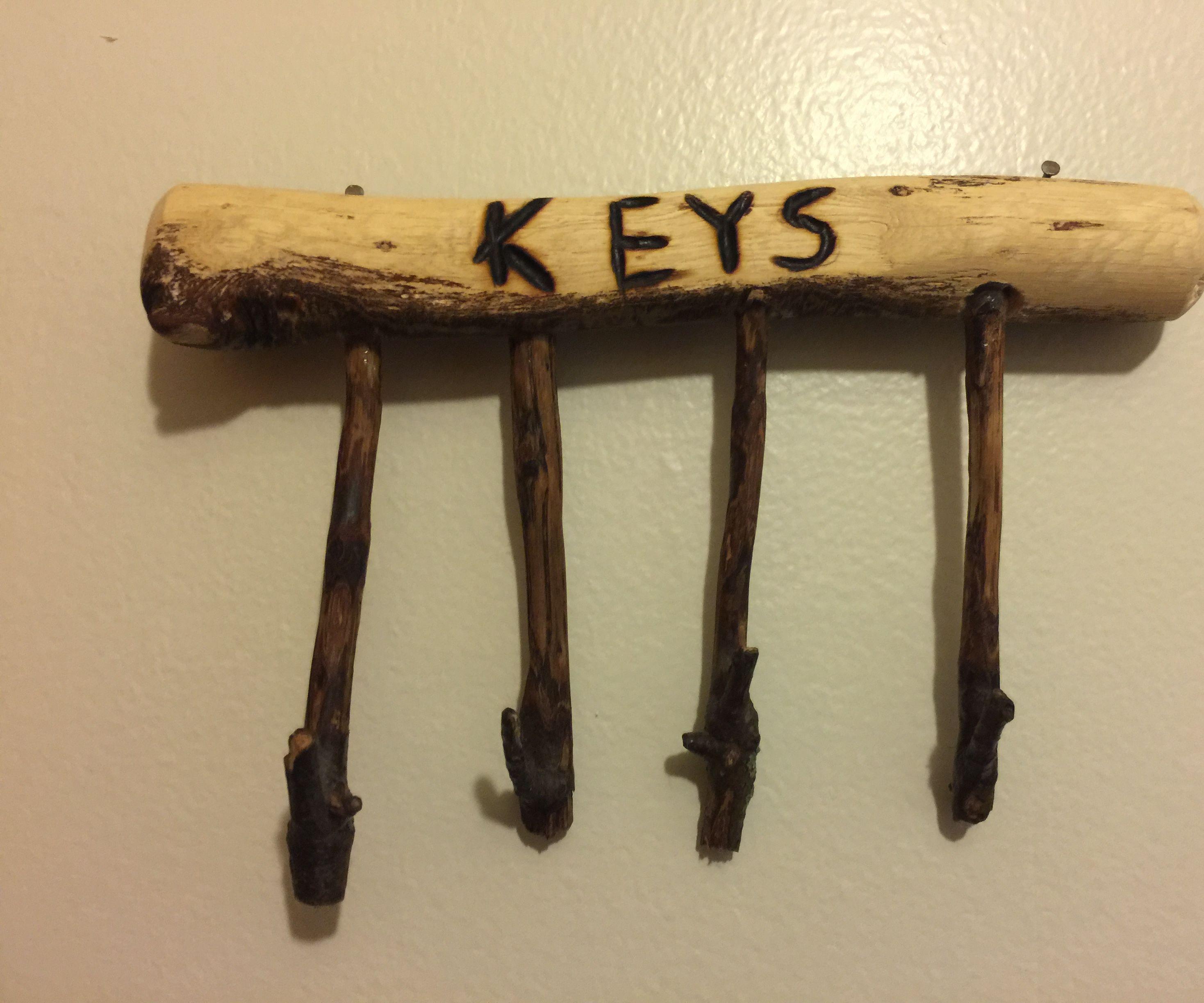 Tree Branch Key Holder