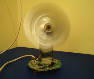 How to Make a Simple and Stylish Desktop Fan Out of Trash