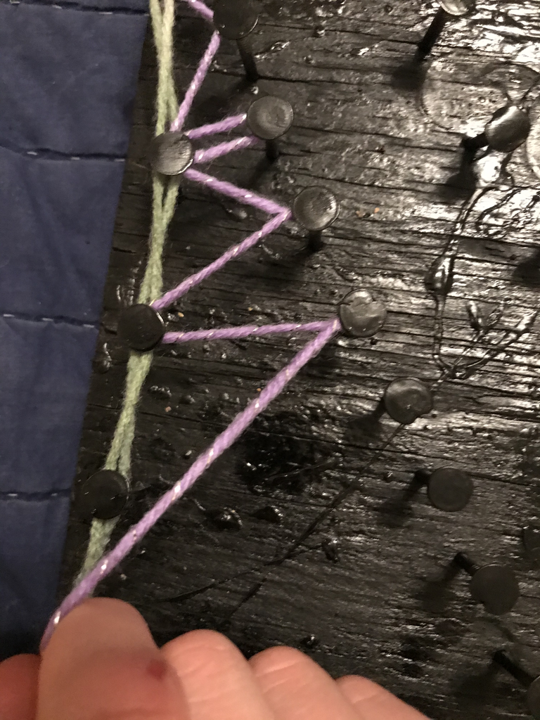 Wrapping String Around Nails