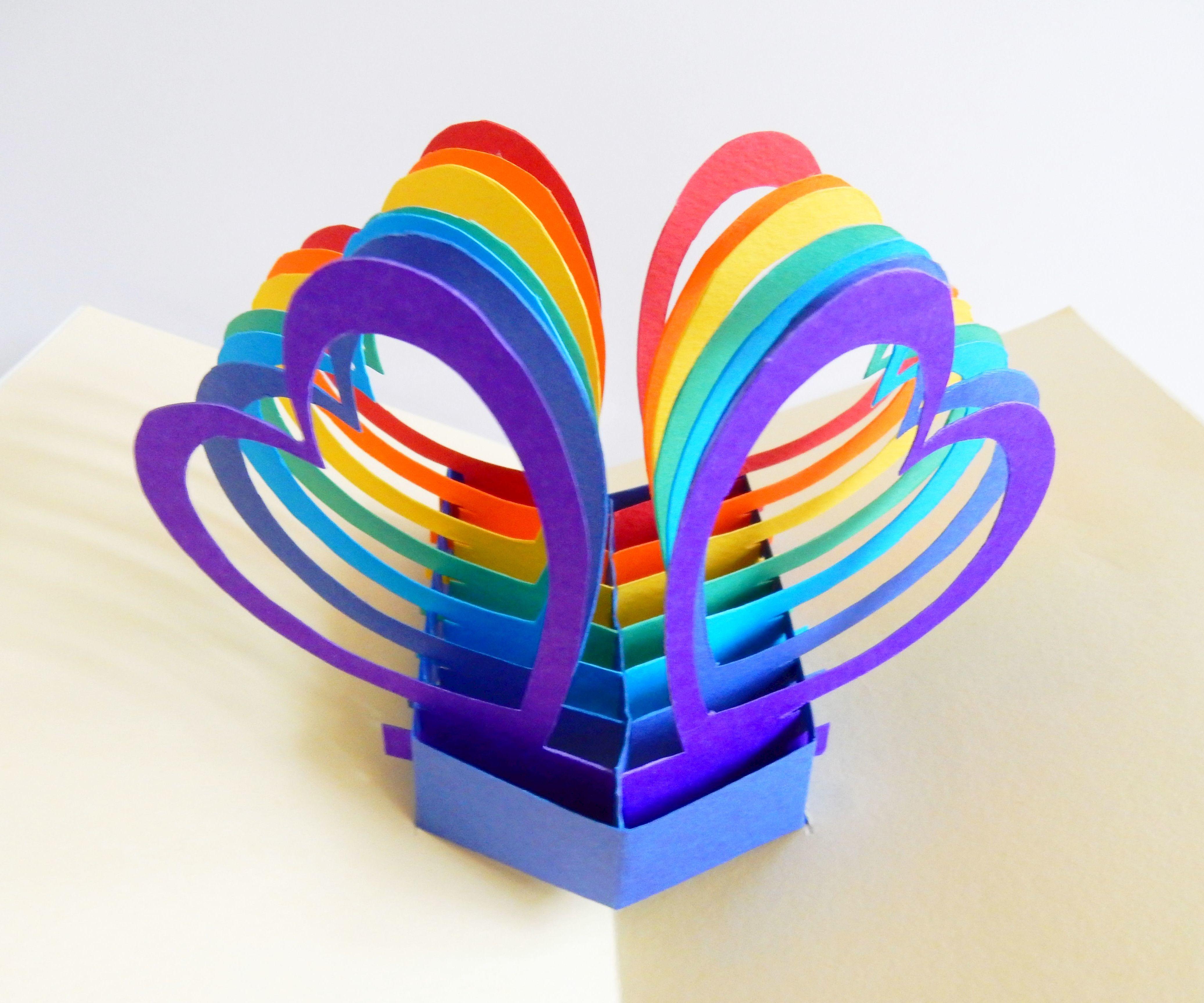 Pop up card (twin hearts)