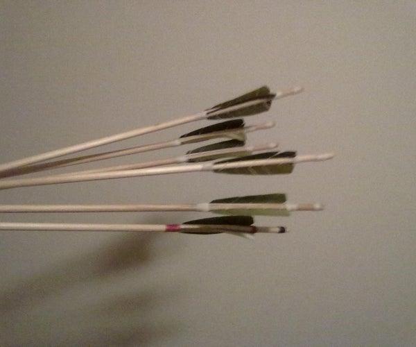 Hand Fletching Wood Arrows