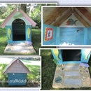 Doghouse Beach House DIY - Using Recycled/Repurposed Materials