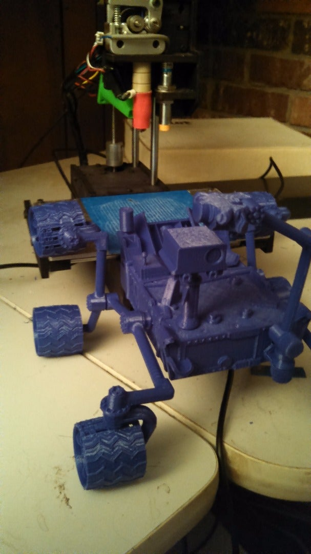 Large Scale: 3D NASA Curiosity 100mm Bed Main Body & Links