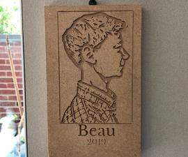 Simple CNC Carved Profile Portraits