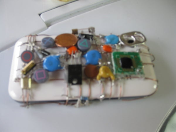 An Aesthetic Phone Case From Electronic Components