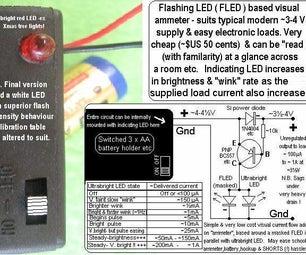 """Single LED """"ammeter""""- FLED Based."""