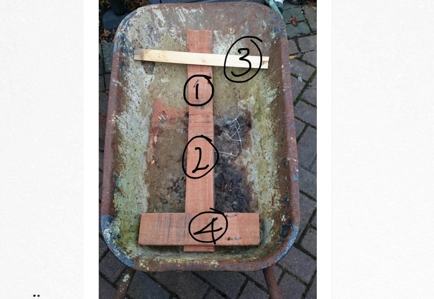 Cut Wood to Fit Wheelbarrow