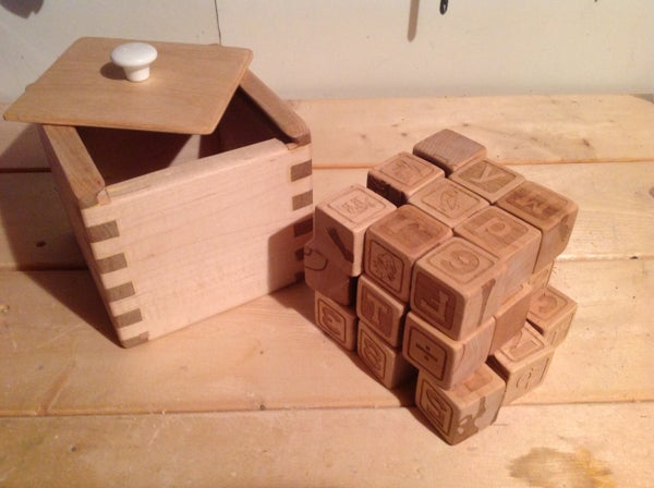 Laser Engraved Alphabet Blocks