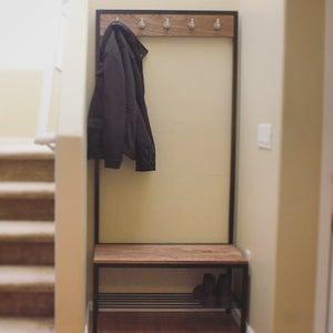 Shoe Rack / Coat Rack / Bench Combo (Hall Tree)