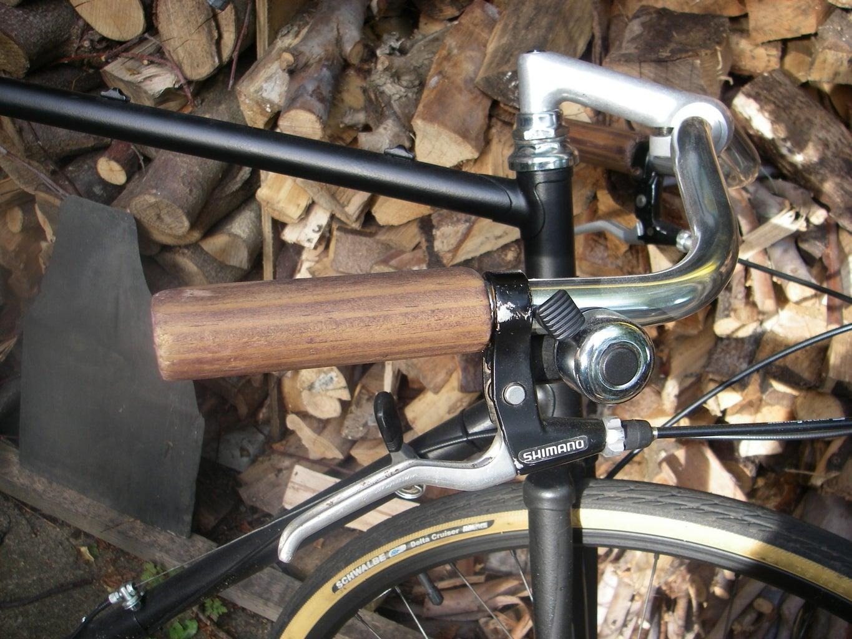 Wooden Bicycle Handlebar Grips.