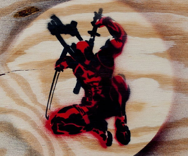 Deadpool Stencil