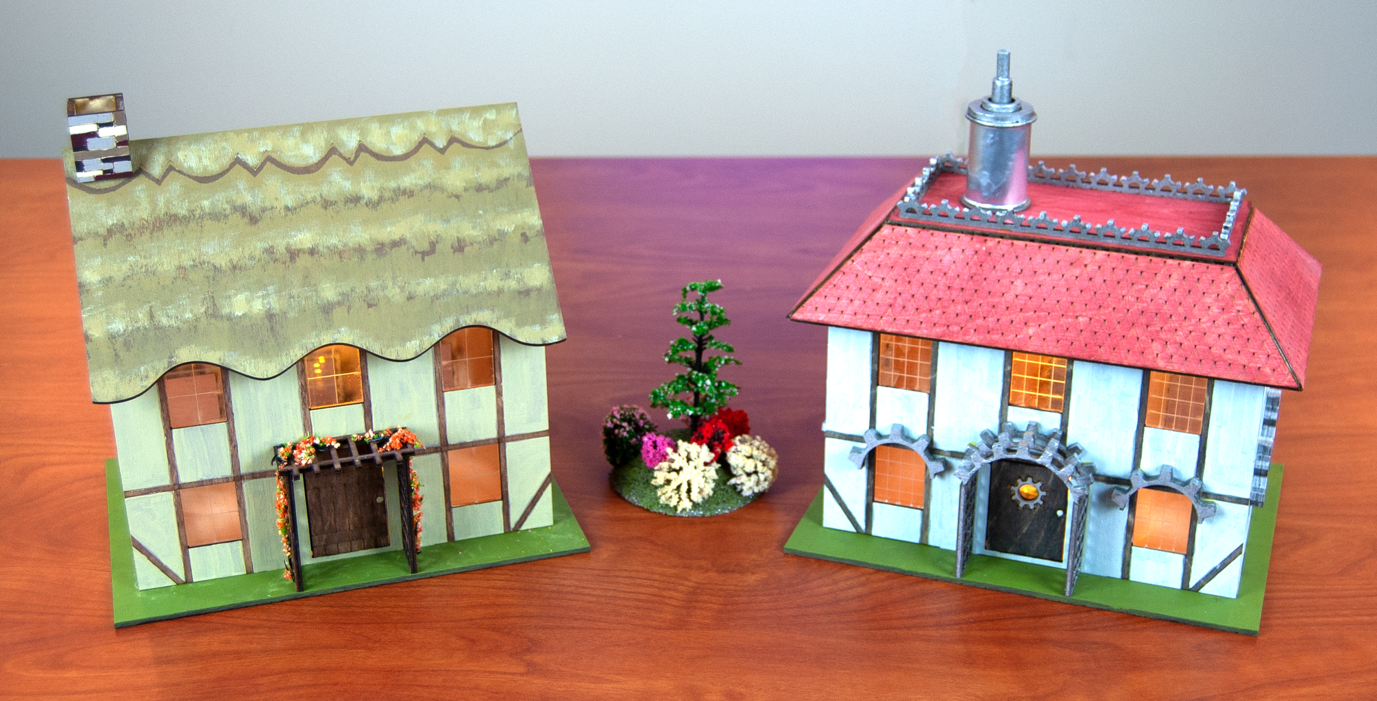 How to Design and Laser Cut a Steampunk Building and Country Cottage for Wargame Terrain