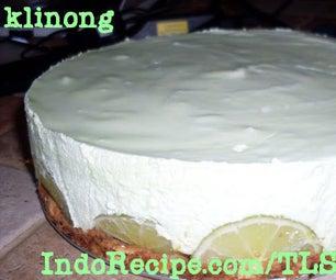 Tropical Lime Cheesecake (No Bake!)