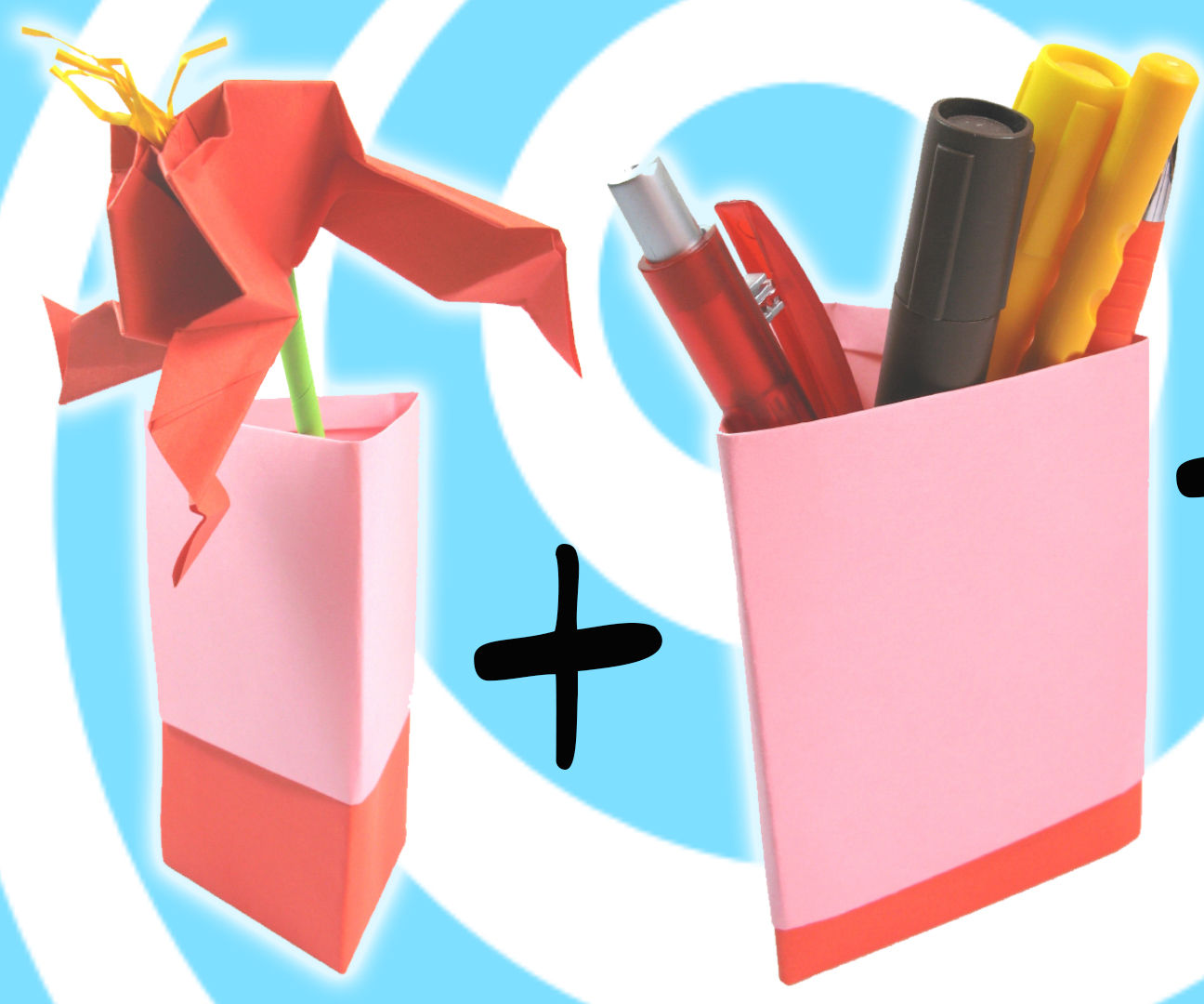 Origami Vase, Pen Holder and Gift Box (3 models in 1 tutorial)