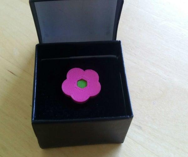 3D Printed Flower Ring