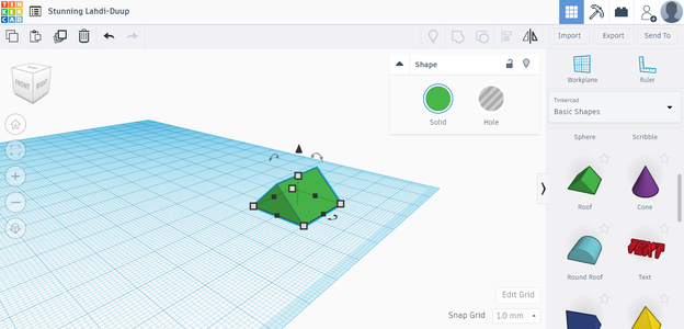Designing the Pizza in Tinkercad