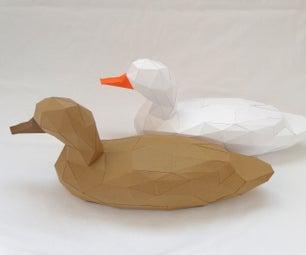 3D Duck Papercraft Model