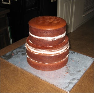 Stacking & Carving the Cakes