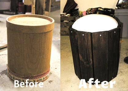 Stool Made Out of Bin