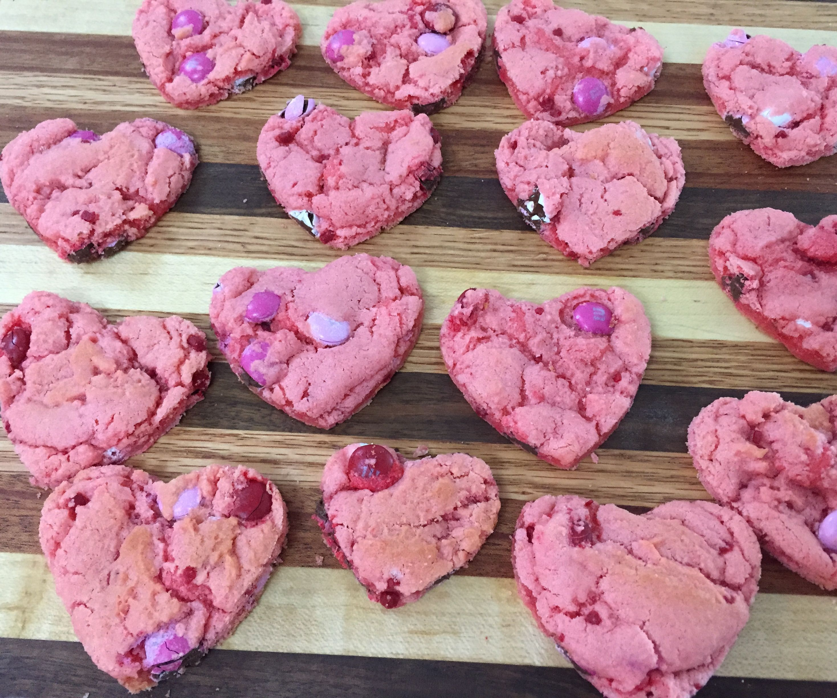 Strawberry Heart Cookies