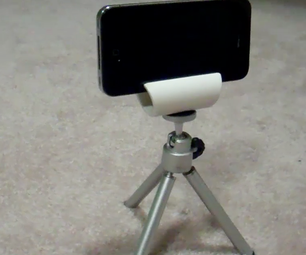 The 10min IPhone (or Smart Phone) Tripod Mount for 3.5 Cents