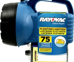 DIY Rechargeable Lantern LED Flashlight Conversion