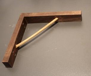 Walnut and Oak Shelf Brackets, From Plank to Finish